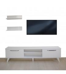Tv Ünitesi Dolabı Raflı (Beyaz) 170*50*35 ( MS 6 )