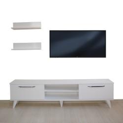 Tv Ünitesi Dolabı Raflı (Beyaz) 150*45*30 ( MS 1 )